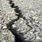 A crack in the asphalt. (c) AndrewMark